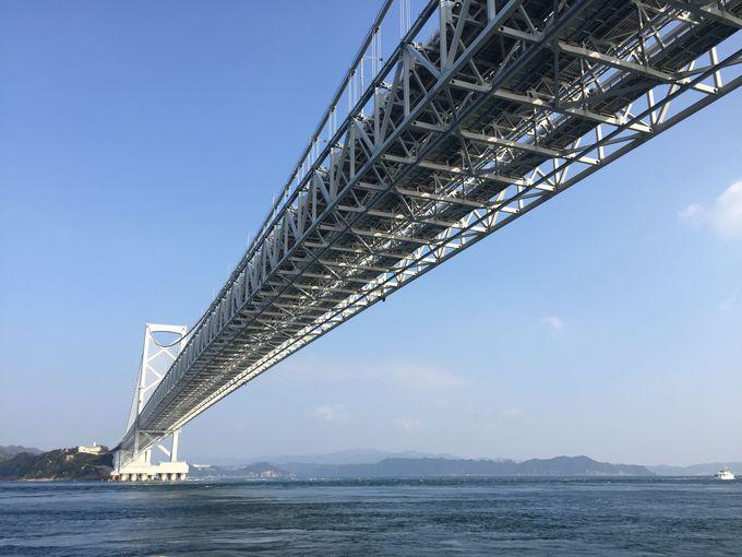 海から見る大鳴門橋は美しくて大迫力!