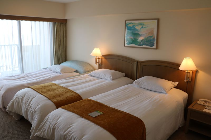 ツインルームを中心とした客室は長期滞在でも快適!