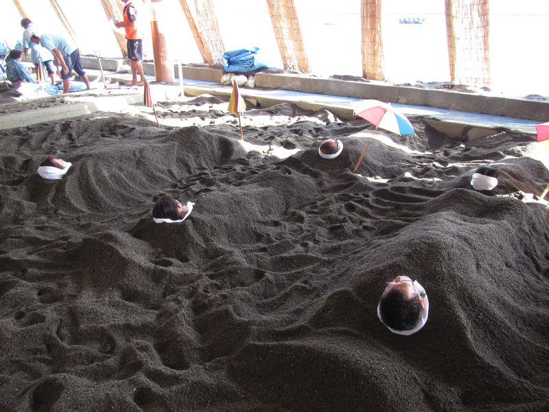 鹿児島県指宿温泉の「砂むし温泉」で大地のエネルギーを吸収しよう