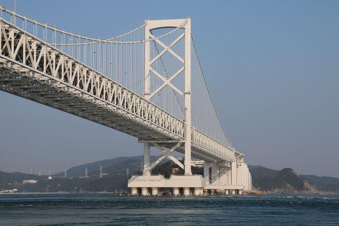 本州と四国を結ぶ大鳴門橋 その両隣のインターチェンジ付近に注目!