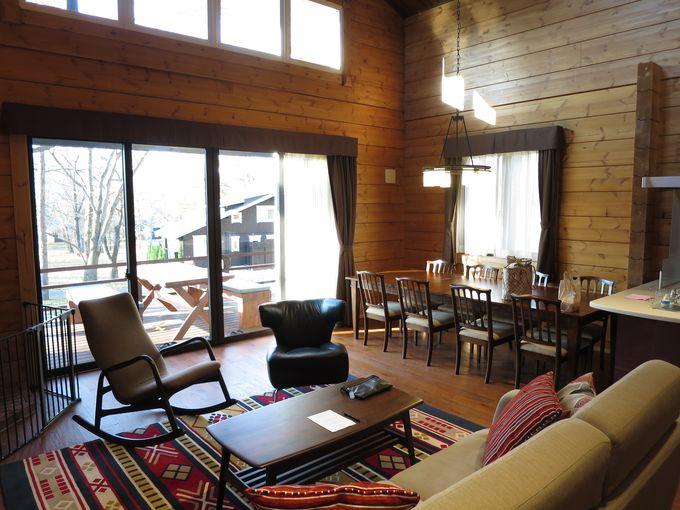 別荘のようにくつろげる客室は3タイプ