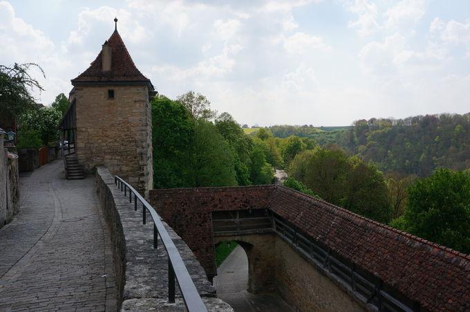 町を守って数百年。ローテンブルクの「城壁」