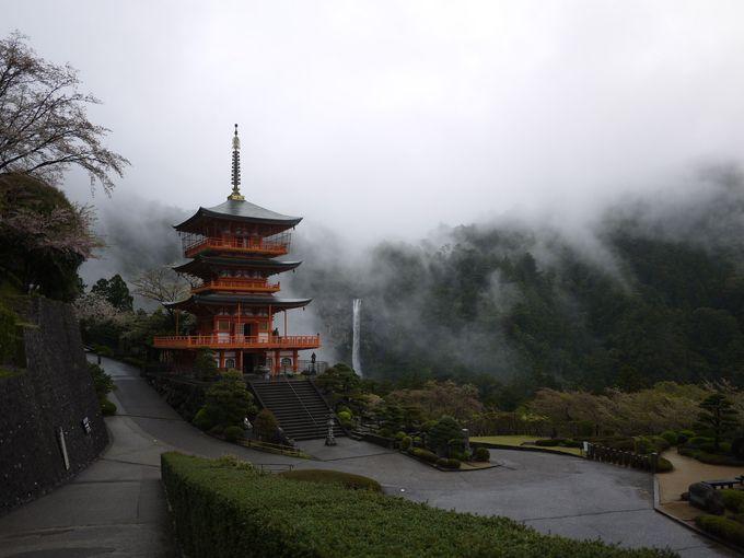 石畳の大門坂、熊野那智大社と那智の滝