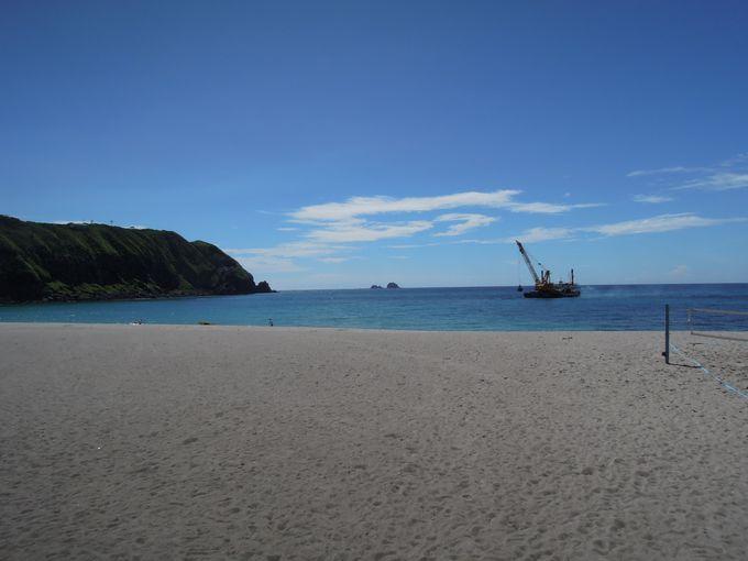 のんびりと海水浴を楽しめる前浜海水浴場