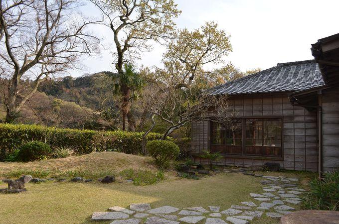 海岸からほど近い「蘆花記念公園(ろかきねんこうえん)」