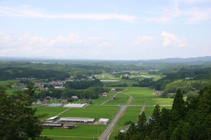 高館城跡から見る黒羽の里の田園風景!