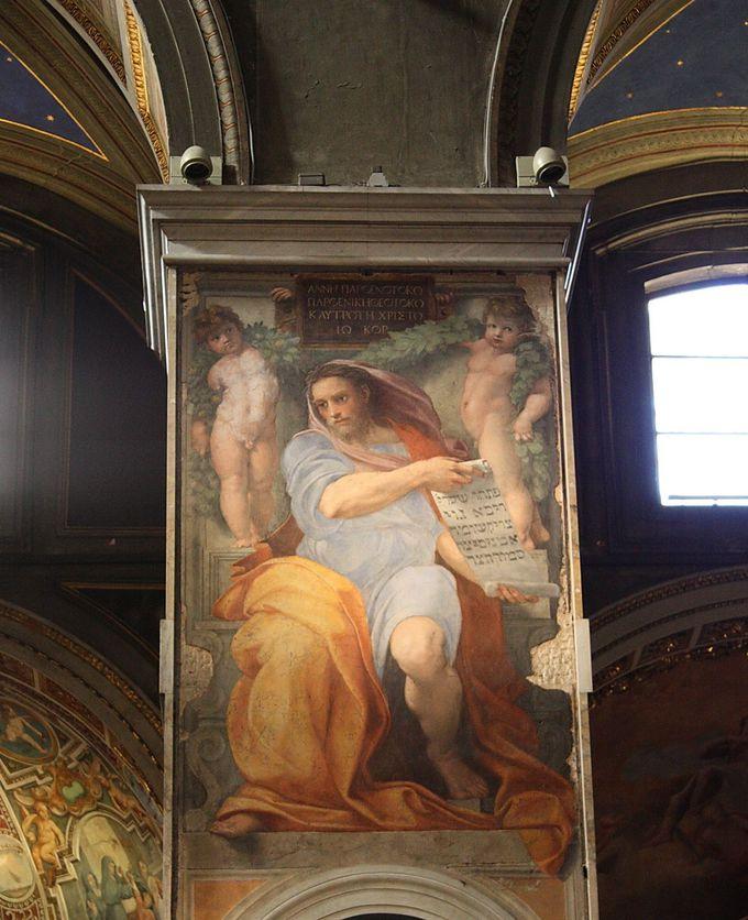 「預言者イザヤ」が見られる!サンタゴスティーノ教会