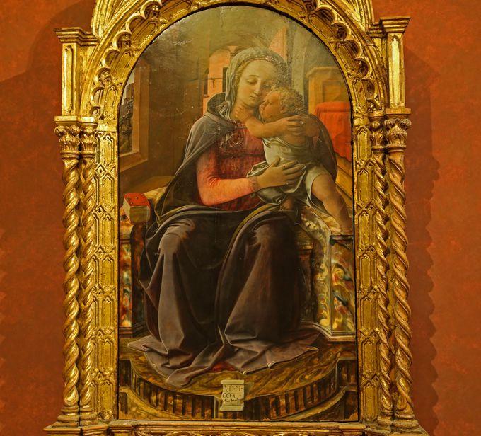 様々な絵画作品の原点はここに?フィリッポ・リッピ 『 タルクィニアの聖母』