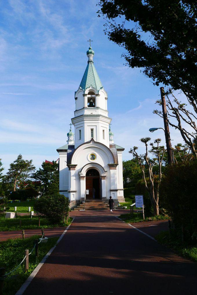 趣のあるビザンチン様式。函館ハリストス正教会