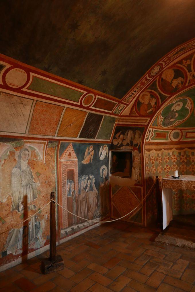 聖キアラが半生を過ごした「クラリッセ修道院」