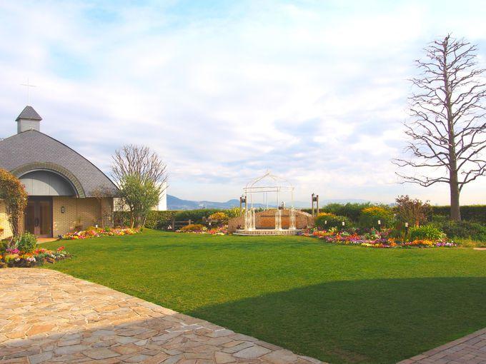 朝は屋上ガーデンで優雅に散歩