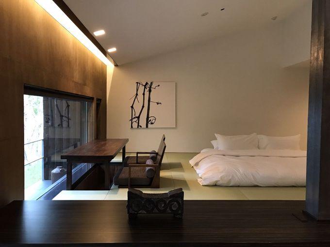 伝統とモダンが共存する客室の魅力
