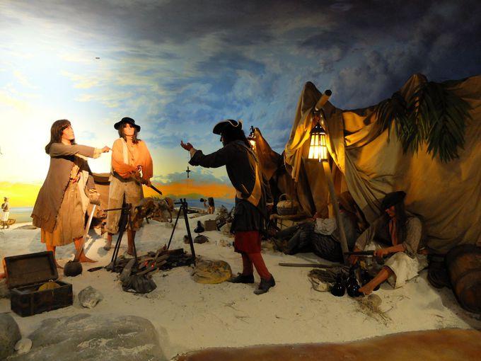 当時の出来事を模したジオラマ展示