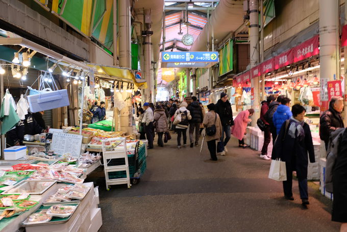 雨知らずでグルメ三昧「近江町市場」