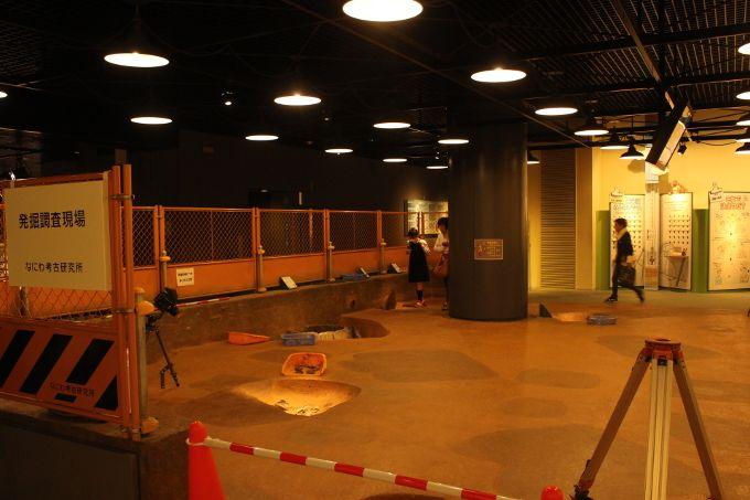 8階 遺跡の発掘現場を再現した体験スペース