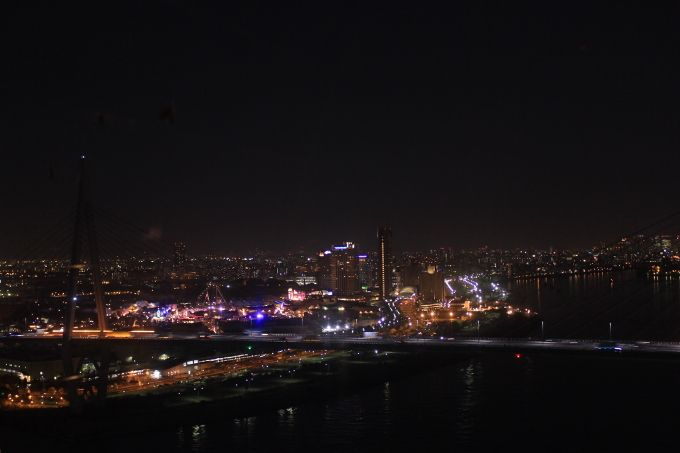 天保山大観覧車からの大阪の眺め