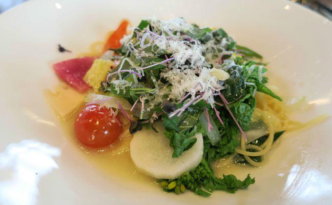 12品目の野菜スパゲッティ—は旬を感じる一品