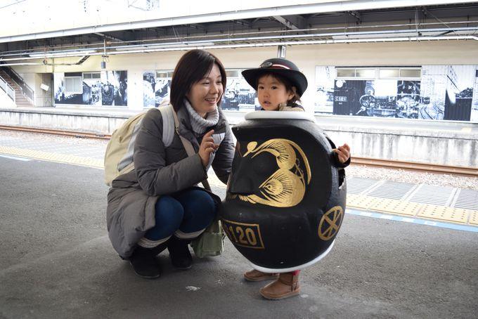 JR高崎駅はホームからSL調。旅気分が盛り上がる!