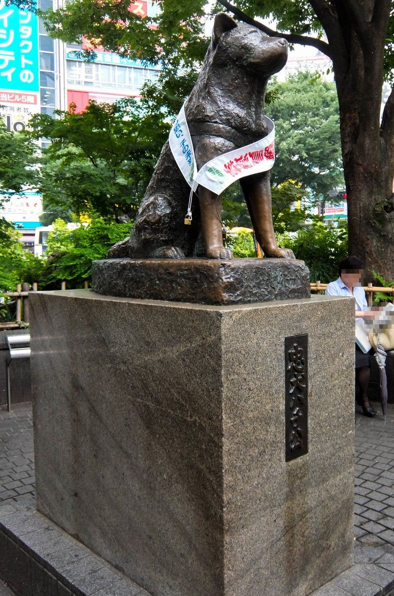 渋谷のシンボル!「忠犬ハチ公」の銅像