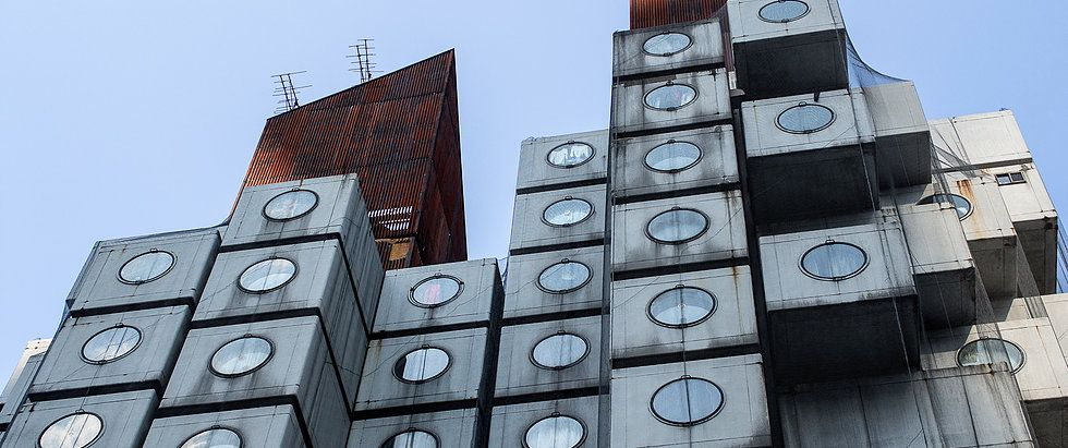 「中銀カプセルタワービル」ってどんな建物?見学の方法は?