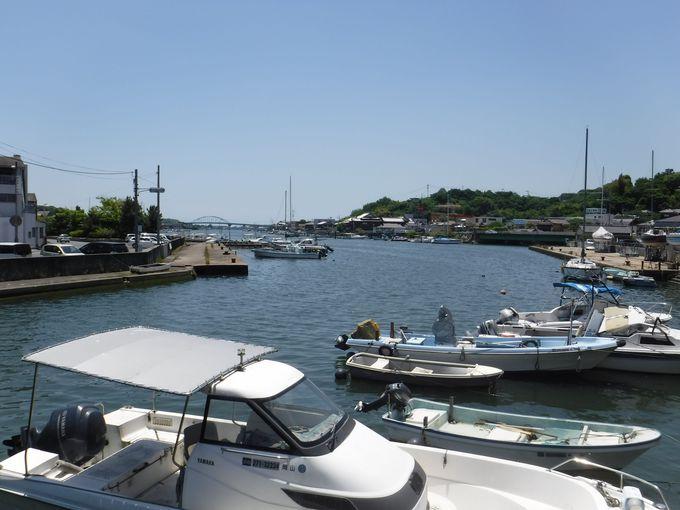 港町ならではの風景「水門」を見てみよう!