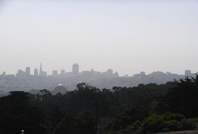 ダウンタウンには霧がかかっていた