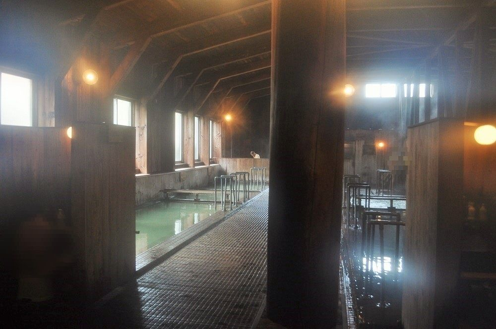 玉川温泉では普通の入浴も楽しめる