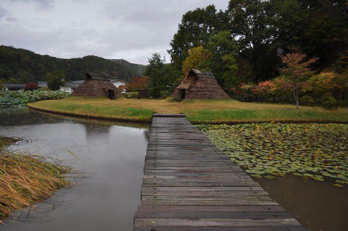 歴史公園は静かな様相