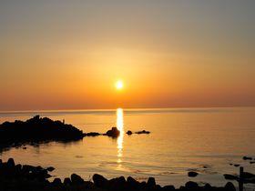 海の絶景!夕陽のまち山形・温海で日没のカウントダウン