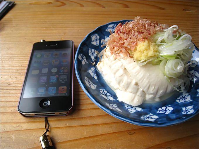 人気ナンバーワンメニューの「つるつる豆腐」を食べて、身体の内側と外側から「ツルツル」に!!