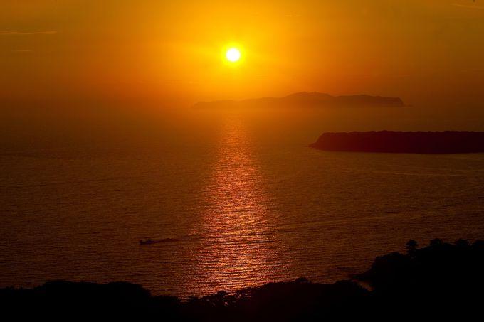 笠山から見る夕景