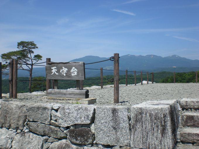 天守台からの安達太良山を中心とした「安達太良連峰の眺望」