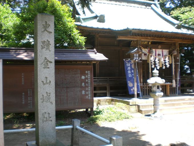 頂上には新田義貞公と息子義興がご祭神の新田神社