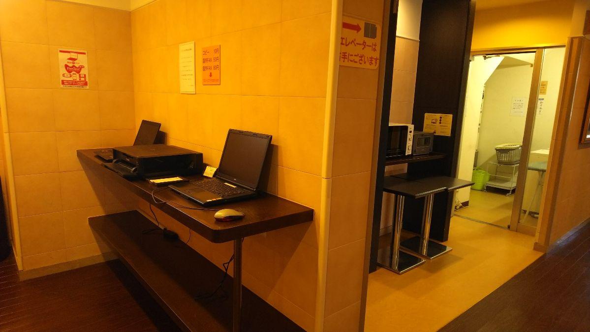 ホテルフロント周辺の風景、アメニティ類や付帯設備も充実!