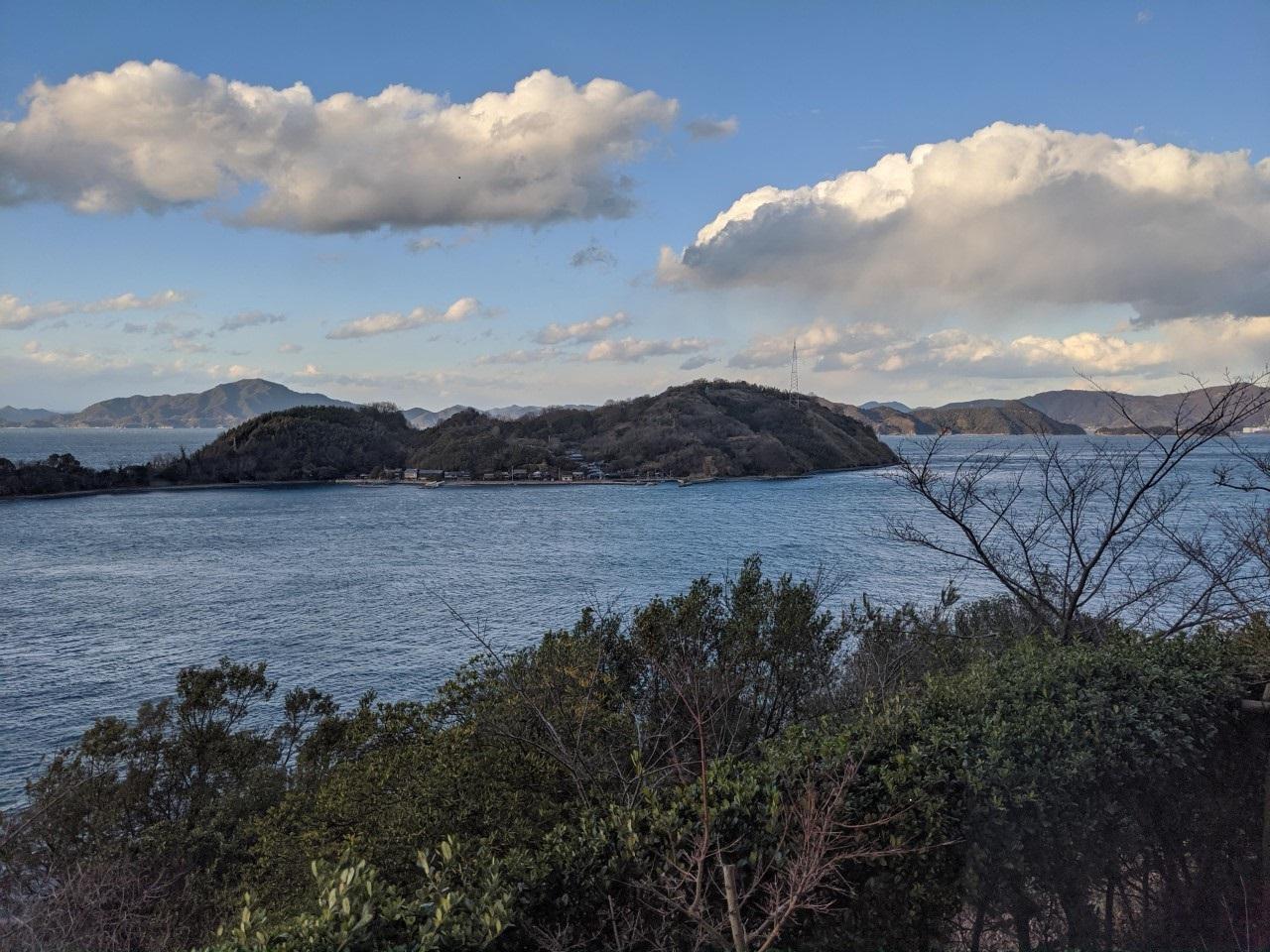 大潮荘に着くとホッとするより、その景観に驚きが!