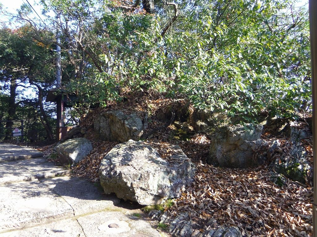 おすすめコースは右の道。路傍に置かれた巨石たちの正体は?