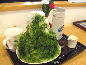 1杯で3度美味しい、絶品抹茶かき氷!静岡森町「おさだ苑本店」