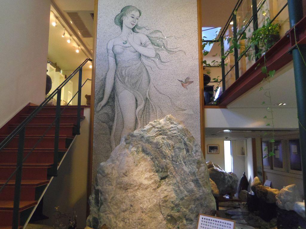 古代の姫を描いたモザイク壁画