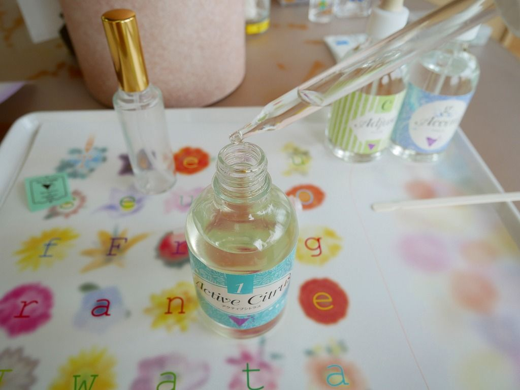 どんな香りができるのか楽しみな調香体験