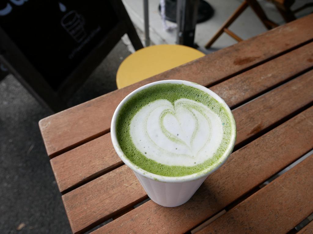 川根茶ラテは「cafeTRUNK」で