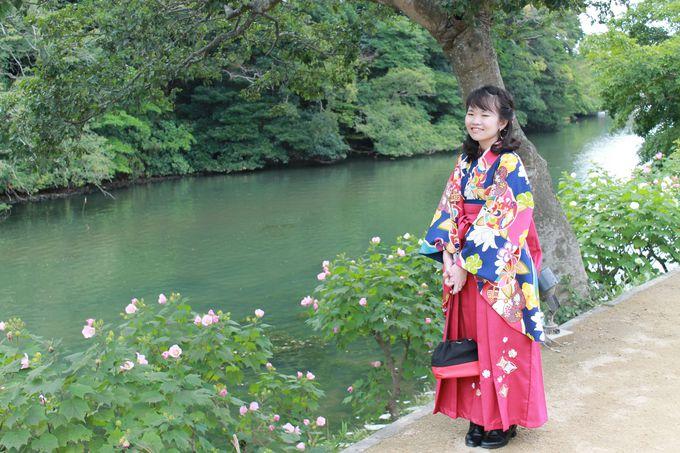 風情ある松江城下を、華やかな着物で散策しよう!
