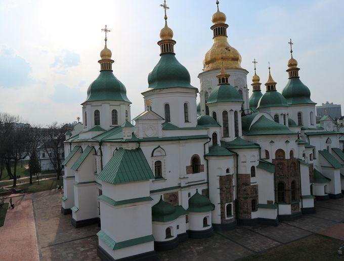 キエフ最古の教会「ソフィア大聖堂」