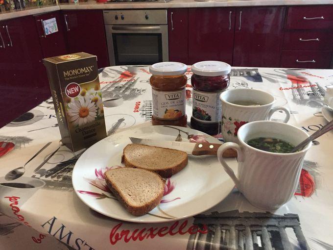 朝食は無料!モルドバのジャムやハーブティーを満喫