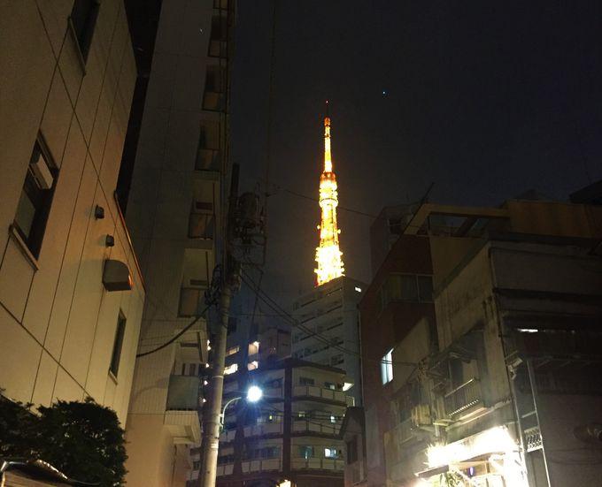 東京タワーのおひざもと!観光に便利