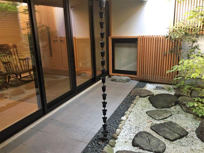 共用スペースが充実。日本庭園付き