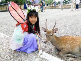 姫に変身して奈良さんぽへ!「装束散歩710」で天平衣装体験
