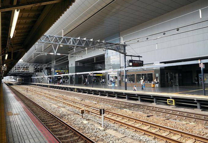 はるかホームははるか彼方…京都駅ホームの終わりが遠すぎて見えない件