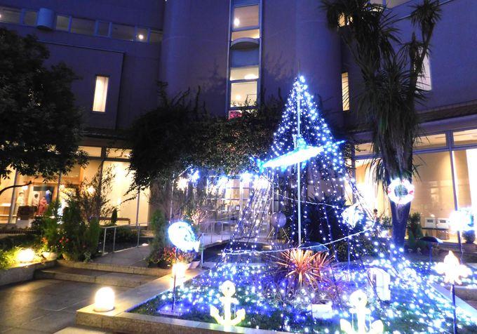 ホテル庭園でイルミネーションをどうぞ!