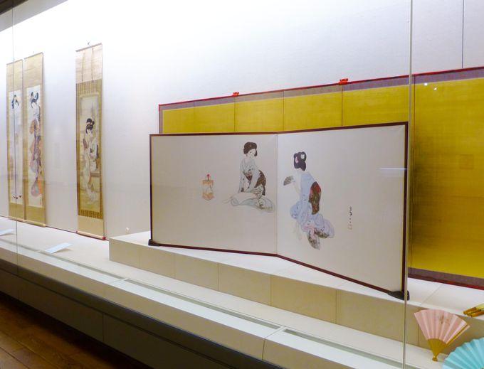 1Fでは万葉ゆかりの美しい日本画を