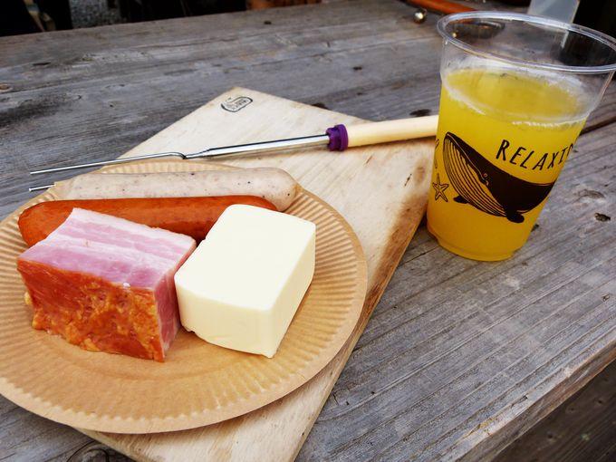 チーズにお酒に海鮮も!種類豊富な焚火グルメ